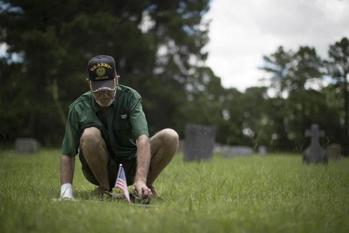 Glenn Brymer says helping to keep the Spring Peaceful Rest Cemetery clean is
