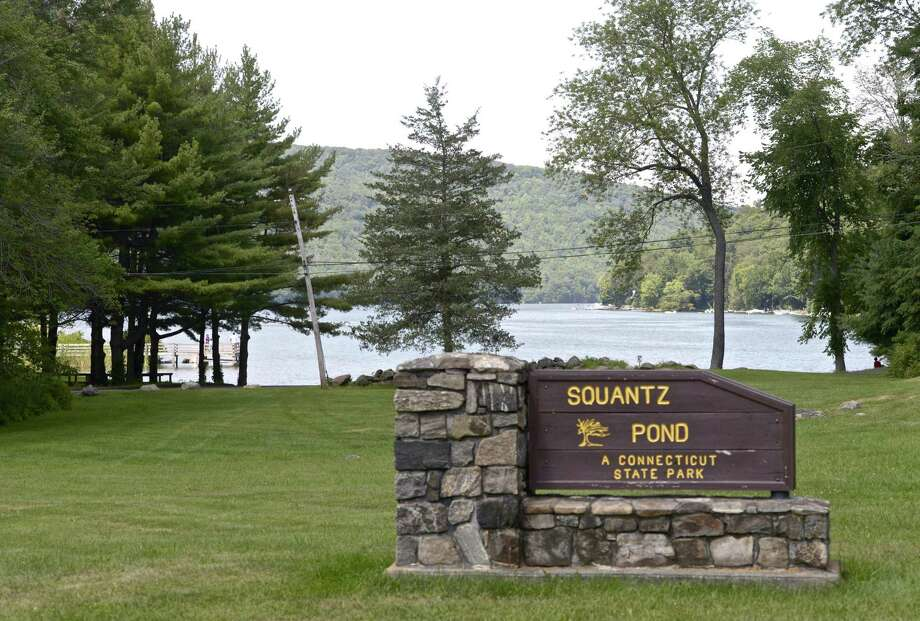 Sign at the entrance of Squantz Pond State Park, in New Fairfield.  Photo: H John Voorhees III / Hearst Connecticut Media / The News-Times
