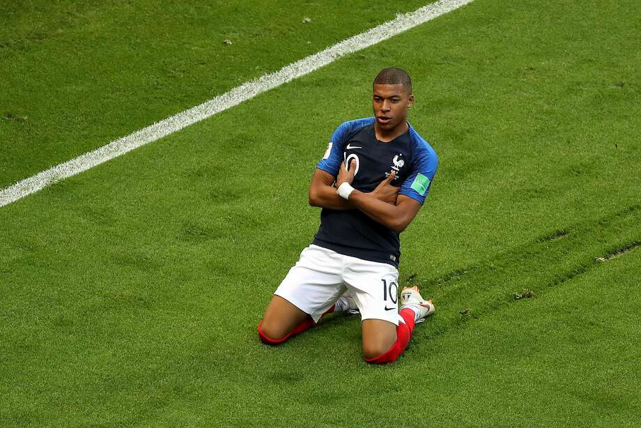 Kylian Mbappe has scored the most goals by a teenager at a World Cup since Pele in 1958. Photo: Catherine Ivill / Getty Images