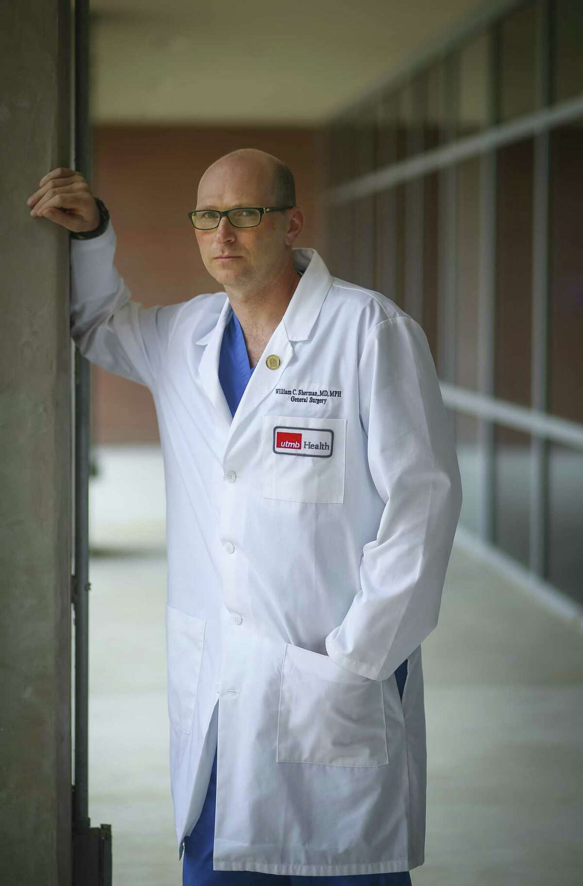 Dr. William Sherman acted quickly durning Harvey and saved a man's leg from potentially being amputated.