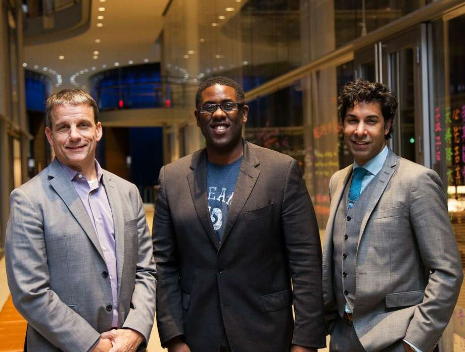 Dream Payments CEO Brent Ho-Young, center, with, from left, Alex Walker, chief financial officer, and Christian Ali, chief marketing officer. In October 2016, Connecticut Innovations named Toronto-based Dream Payments the winner of the inaugural VentureClash, with Dream Payments to receive a $1.5 million investment in exchange for establishing operations in Connecticut. Photo: /