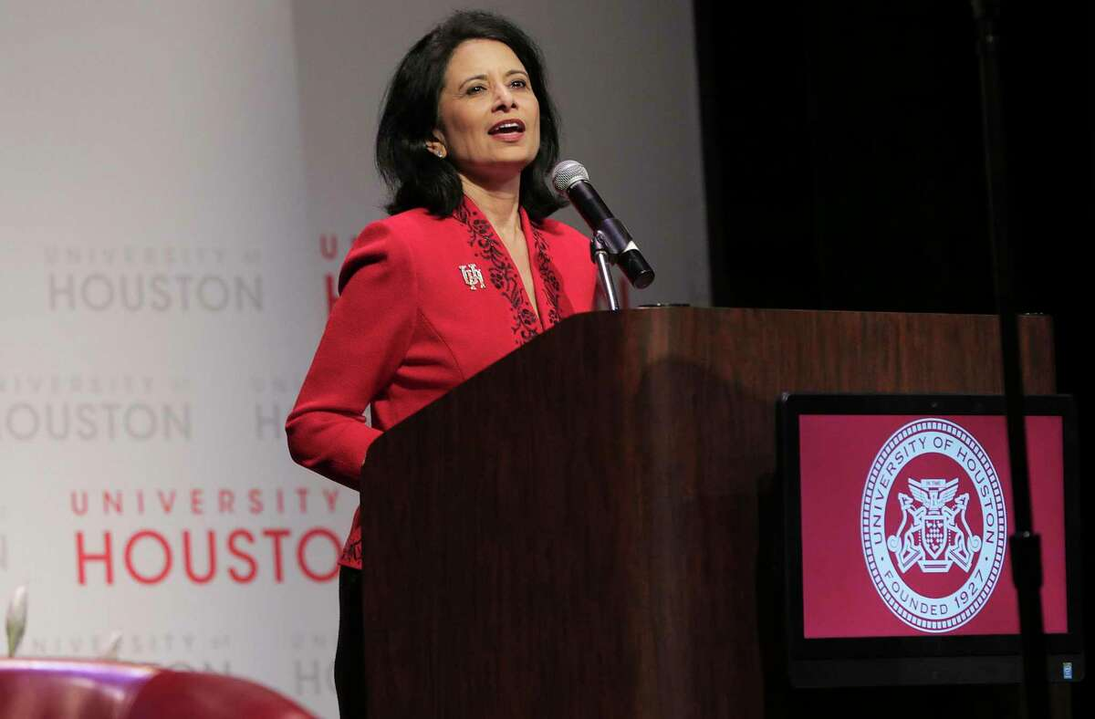 University of Houston System and UH President Renu Khator announced Wednesday, Oct. 28, 2020, that the system has finally closed its eight-year fundraising campaign, raising roughly $1.2 billion for scholarships, professorships, facilities and programs. Khator, shown in this file photo, is also chancellor of the UH System.