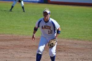 New Porter softball coach Heather Mosser during her playing days with McNeese State.