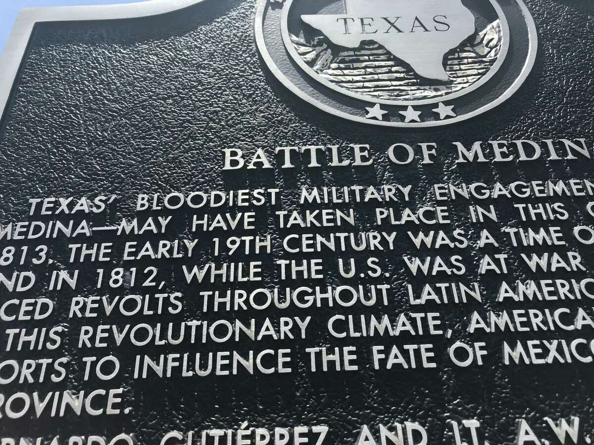 The state historical marker in Atascosa County underscores the tentative nature of what we know about the Battle of Medina.