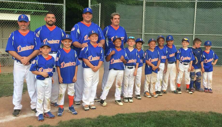 The Danbury Hatters 8-year-old Cal Ripken baseball team captured the state championship Wednesday with a 6-4 victory over New Canaan at Glander Park in Newtown. Photo: Contributed Photo