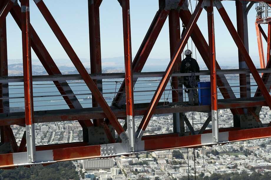 Sutro Tower is a funky San Francisco landmark. Photo: Scott Strazzante / The Chronicle 2018