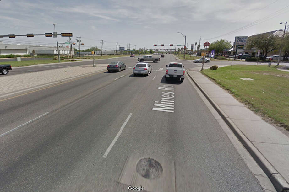 The two-vehicle crash occurred late Friday near Lowry and Mines Road. Photo: Google Maps/Street View