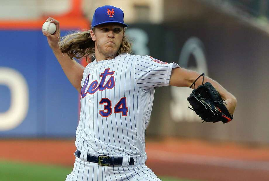 New York Mets starting pitcher Noah Syndergaard delivers against the Washington Nationals during the first inning of a baseball game Friday, July 13, 2018, in New York. (AP Photo/Julie Jacobson) Photo: Julie Jacobson / Copyright 2018. The Associated Press. All Rights Reserved.