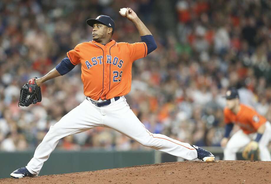 Houston Astros relief pitcher Tony Sipp (29) pitches in the seventh inning against the Detroit Tigers at Minute Maid Park on Friday, July 13, 2018 in Houston. Photo: Elizabeth Conley/Houston Chronicle