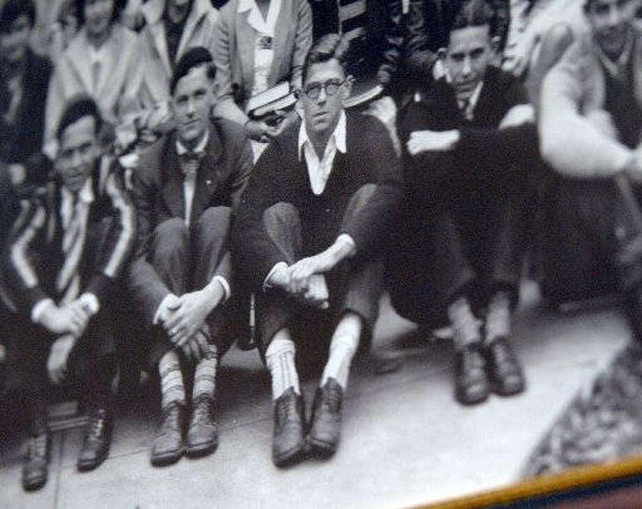 Ronald Reagan in his freshman-year class photo in 1928. Photo:       The Pantagraph