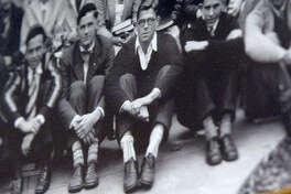 Ronald Reagan in his freshman-year class photo in 1928.