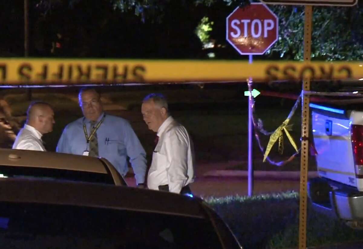 Harris County officials are investigating the death of a woman, discovered inside her home about 6:30 p.m. Friday on Bent Pine. Senior sheriff's deputy Thomas Gilliland says officials are searching for a 2004 maroon PT Cruiser with a Texas license plate BC48217.