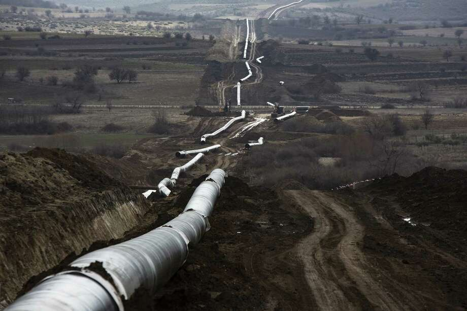 The Trans-Adriatic pipeline will carry Caspian Sea natural gas to Europe. It has become increasingly difficult to get pipelines approved in Europe, as well as in the U.S.   CONTINUE to see major pipeline projects in Texas.   Photo: Bloomberg Photo By Konstantinos Tsakalidis / © 2017 Bloomberg Finance LP