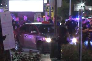 Three robbery suspects were arrested and a fourth was at large after leading Houston Police on a brief chase through west Houston, HPD said. Officers spotted the men - who were wanted in connection with an earlier aggravated robbery - around 1:15 a.m. on Hillcroft, HPD said. The men then led police on a chase throughout west
