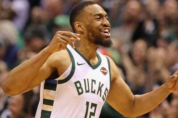 MILWAUKEE, WI - APRIL 22:  Jabari Parker #12 of the Milwaukee Bucks celebrates after hitting a shot against the Boston Celtics during Game Four of Round One of the 2018 NBA Playoffs at the Bradley Center on April 22, 2018 in Milwaukee, Wisconsin. NOTE TO USER: User expressly acknowledges and agrees that, by downloading and or using this photograph, User is consenting to the terms and conditions of the Getty Images License Agreement.  (Photo by Jonathan Daniel/Getty Images)