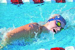 Allison Naylor of Water Works competes in the girls' 15-18 200-meter freestyle during Thursday's home meet against Paddlers.