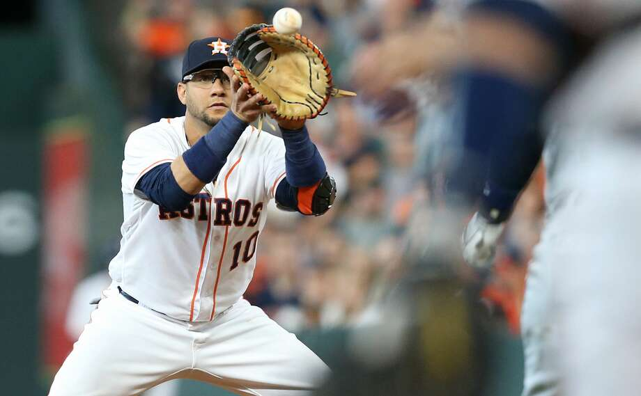 PHOTOS: Astros game-by-game Houston Astros first baseman Yuli Gurriel (10) gets the ball to get Detroit Tigers center fielder JaCoby Jones (21) out at first in the first inning at Minute Maid Park on Saturday, July 14, 2018. Astros won the game 9-1 and lead the Tigers 2-0 in the series.( Elizabeth Conley / Houston Chronicle ) Browse through the photos to see how the Astros have fared through each game this season. Photo: Elizabeth Conley/Houston Chronicle