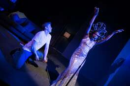 "Gus (Adam Donovan) taps into his inner black woman, Diana (Santoya Fields), as the script veers into weirder territory in Shotgun Players' ""White."""
