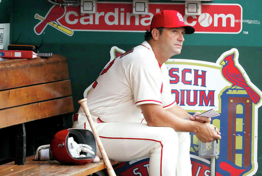 The Cardinals fired manager Mike Matheny follwong Staurday night's loss to the Cincinnati Reds. Matheny is shown sitting in the dugout during Saturday's rain-delayed game at Busch Stadium. Photo:     Jeff Roberson | AP Photo