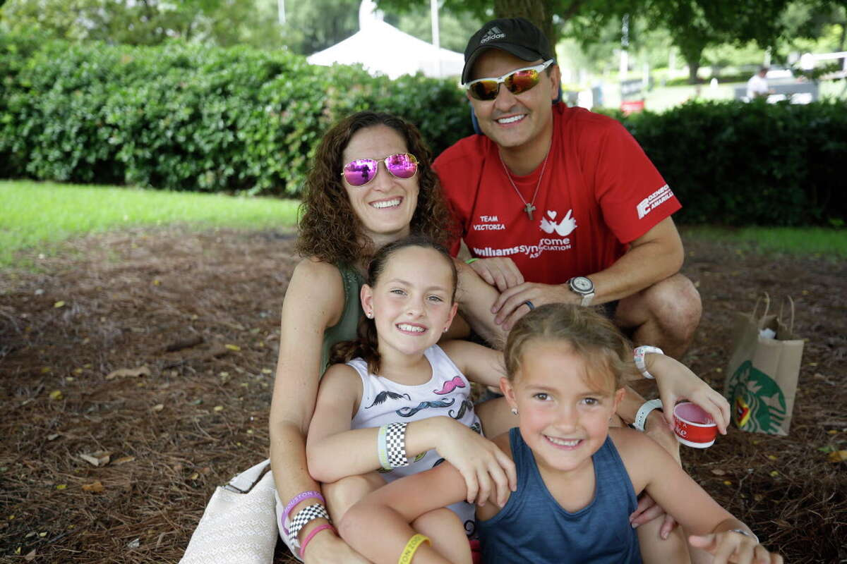 People attend a World Cup watch party at Discovery Green, 1500 McKinney St., Sunday, July 15, 2018 in Houston.