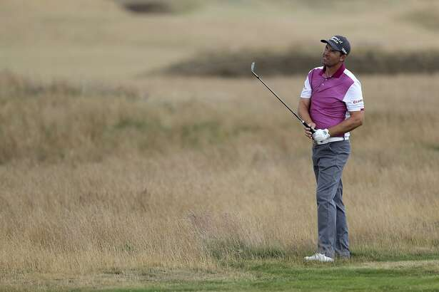 Padraig Harrington practicing during preview day one of The Open Championship 2018 at Carnoustie Golf Links, Angus, Britain, Sunday, July 15, 2018. (Richard Sellers/PA via AP)