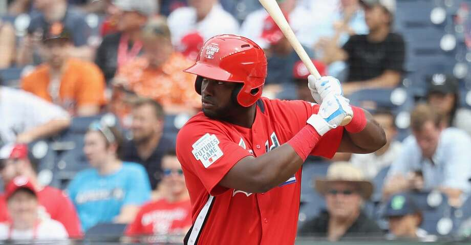 PHOTOS: Astros game-by-game WASHINGTON, DC - JULY 15: Yordan Alvarez #45 of the Houston Astros and the World Team bats against the U.S. Team during the SiriusXM All-Star Futures Game at Nationals Park on July 15, 2018 in Washington, DC.  (Photo by Rob Carr/Getty Images) Browse through the photos to see how the Astros have fared through each game this season. Photo: Rob Carr/Getty Images
