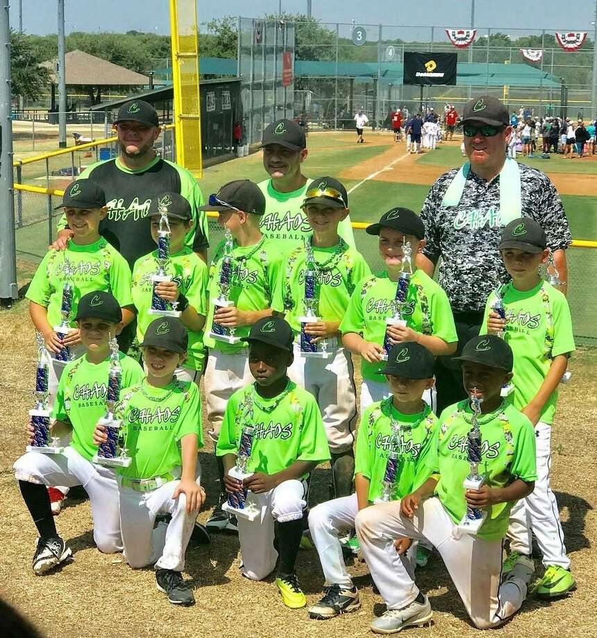 The Conroe Chaos 8U select baseball team recently took second place at the AAYBA World Series at Bakersfield Park in Flower Mound, Texas. Photo: Submitted Photo