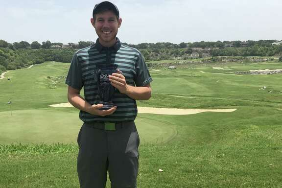 The Greater San Antonio Men's Championship trophy is St. Mary's junior Jake Stevenson's first outside junior league play.