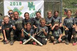 The New Milford Chaos 8-year-old softball team, including players (front row, from left)Carly Coloneri, Kaitlyn Bohrman and Emilee Shanks; and (back row)Tierney Atherton, Makayla Gillette, Megan Bohrman, Krista Manka, Mairead Bell, Katelyn Simmons, Brooklynn Romaniello, Haley Goodrich, Lydia Rocky and Lillian Fortier.The team is coached by head coach Ray Manka and assistants Jerry Romaniello, Bob Gillette, Drew Rocky and Pam Simmons.