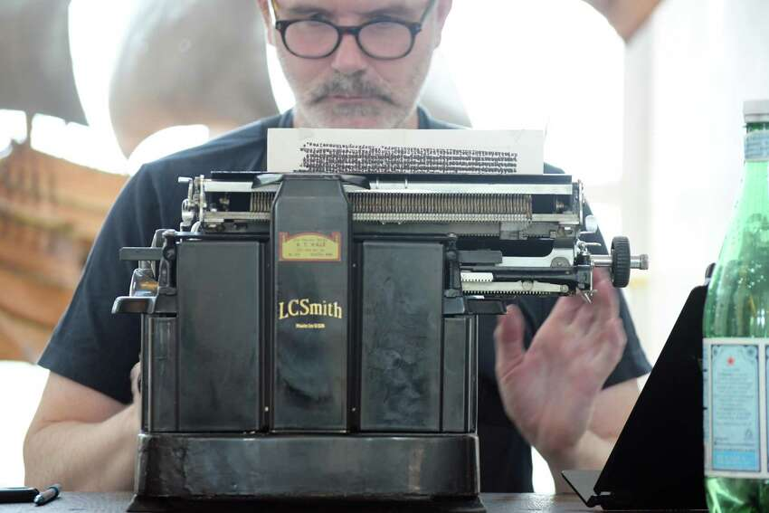 Artist Tim Youd is retyping