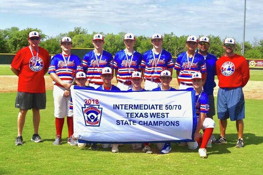 The Midland Intermediate All Stars pose after winning the Texas West State Championship with a 2-1 victory over Abilene Wylie. Photo: Courtesy Photo