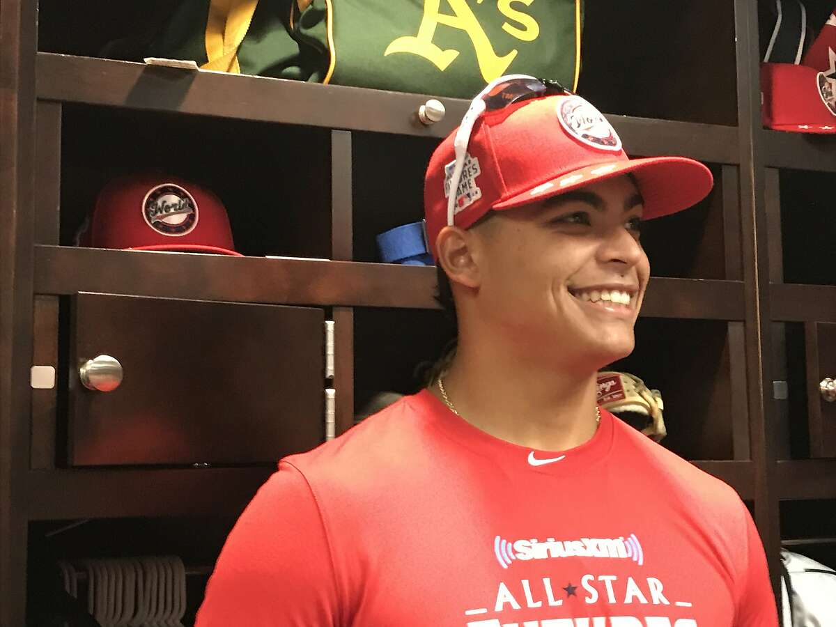 Oakland Athletics prospect Jesus Luzardo at Nationals Park for the Futures Game on July 15, 2018.