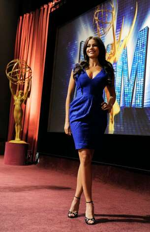 Actress Sofia Vergara poses after announcing nominations for the 62nd Primetime Emmy Awards at the Academy of Television Arts & Sciences  in Los Angeles, Thursday, July 8, 2010. The show will be held on Aug. 29 at the Nokia Theatre in Los Angeles. (AP Photo/Chris Pizzello) Photo: Chris Pizzello / AP