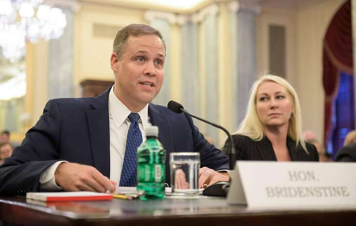 Rep. James Bridenstine (R-Okla.), nominee for Administrator of NASA, testifies at his nomination hearing before the Senate Committee on Commerce, Science, and Transportation on November 1, 2017, in the Russell Senate Office Building in Washington, D.C. (Joel Kowsky/NASA/TNS)