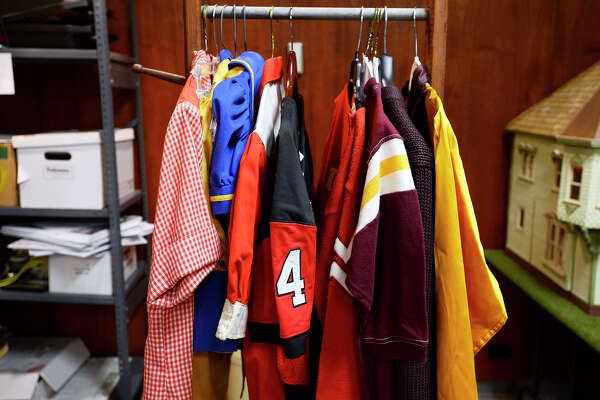 Clothing items at the Museum of the Gulf Coast. The museum is putting together an exhibit on Southeast Texas sports history.  Photo taken Wednesday 7/11/18 Ryan Pelham/The Enterprise