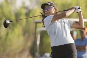 Anaya Perales follows her tee shot 07/16/18 during the qualifying round of the Midland Women's City Golf Tournament at Hogan Park Golf Course. Tim Fischer/Reporter-Telegram