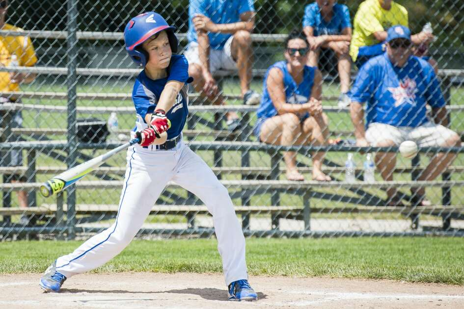 Gladwin's  at a game against Northeast during the Little League district tournament on Sunday, July 15, 2018. Northeast won 14-4. (Danielle McGrew Tenbusch/for the Daily News)