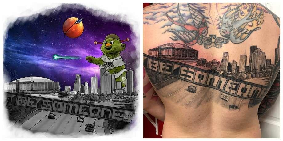Texas man gets the most Houston tattoo ever - San Antonio