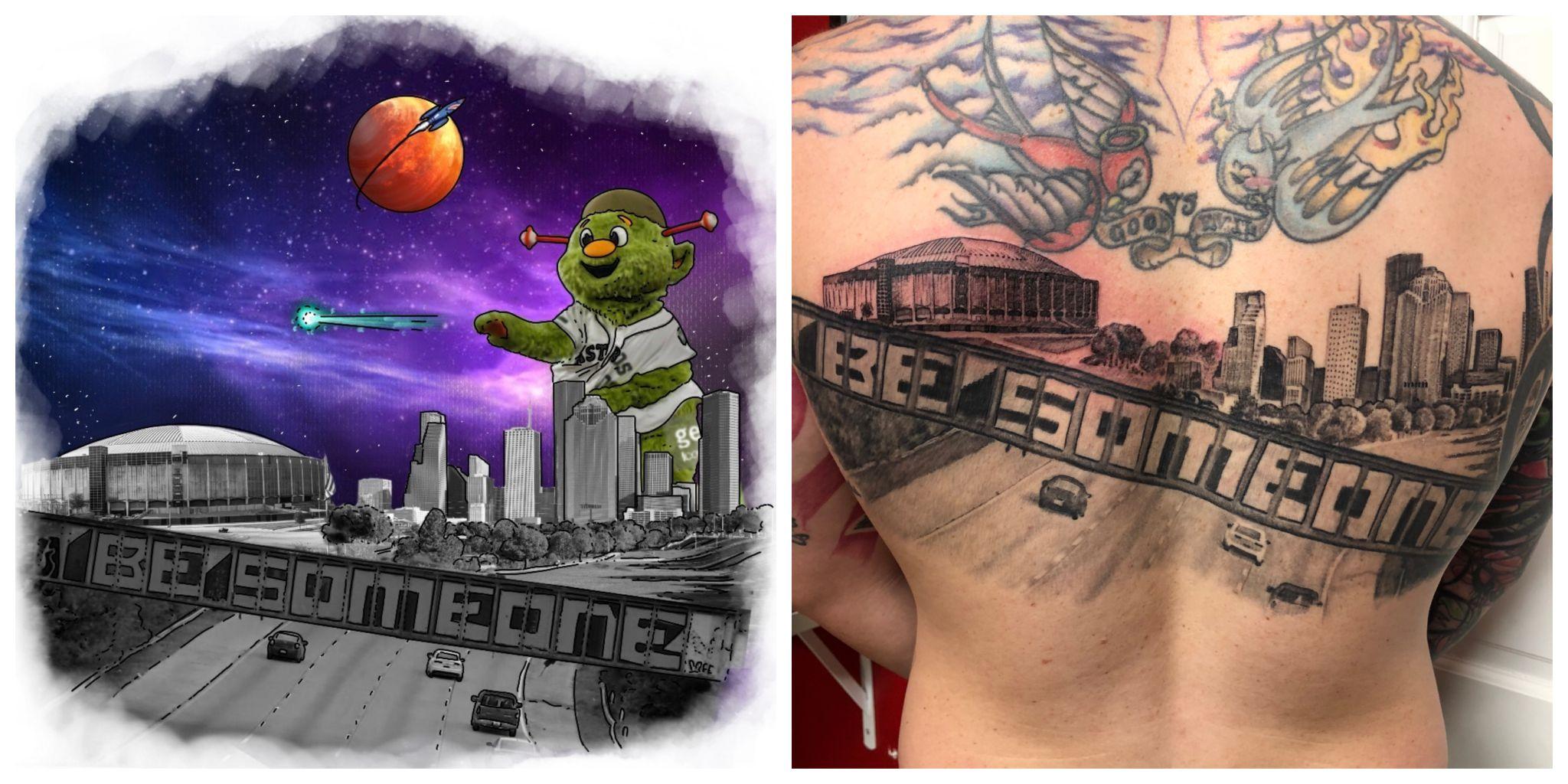 Texas man gets the most Houston tattoo ever - San Antonio Express-News