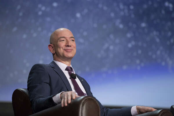 Jeff Bezos, chief executive officer of Amazon.com and founder of Blue Origin, in Colorado Springs, Colo., on April 12,2016.
