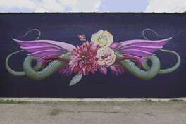 Heights artist Ana Marietta has teamed up with Allstate Foundation Purple Purse to paint a mural to raise awareness about financial abuse.