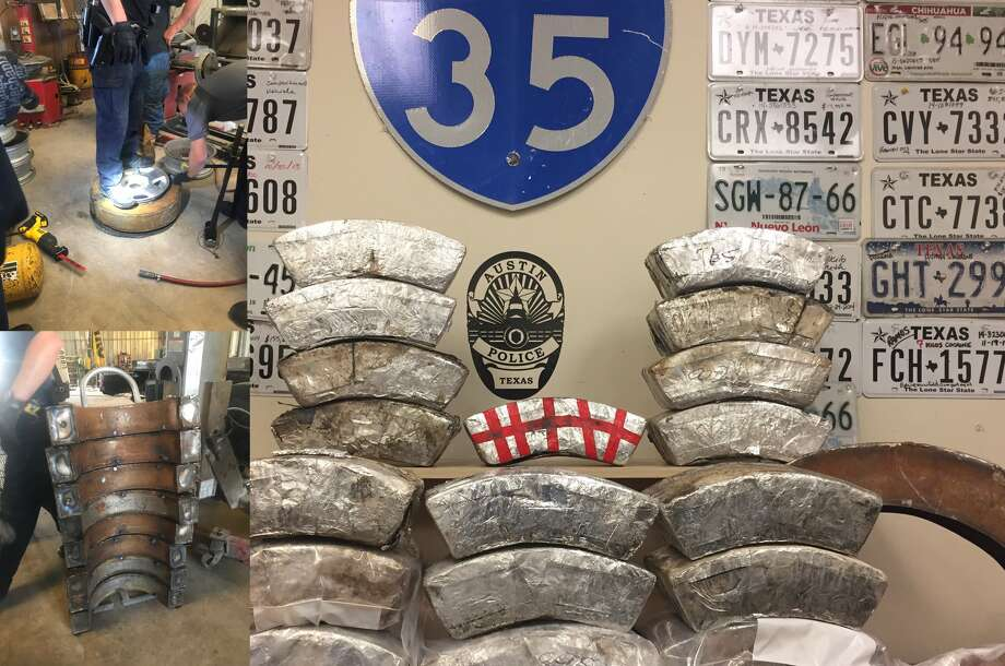 The Austin Police Department said they discovered $4.8 million worth of drugs in the tire casings of Armando Martinez, 43.