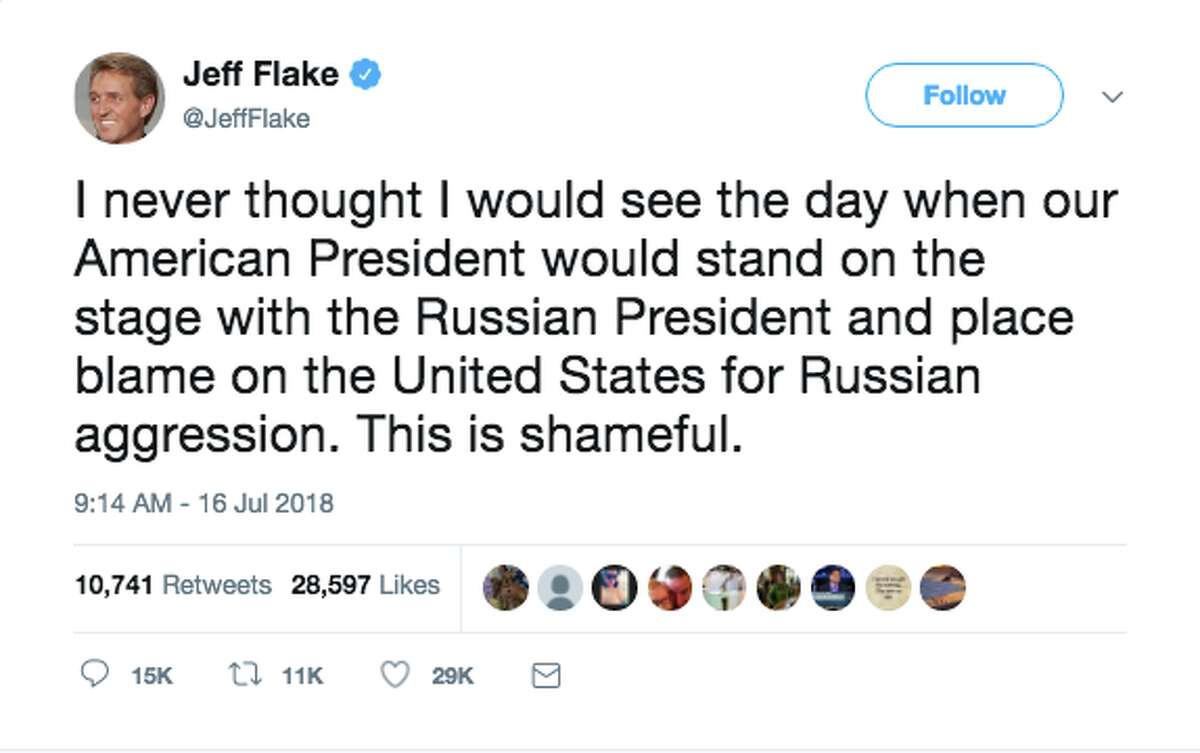 Politicians react to President Trump's press conference with Russian President Vladimir Putin.
