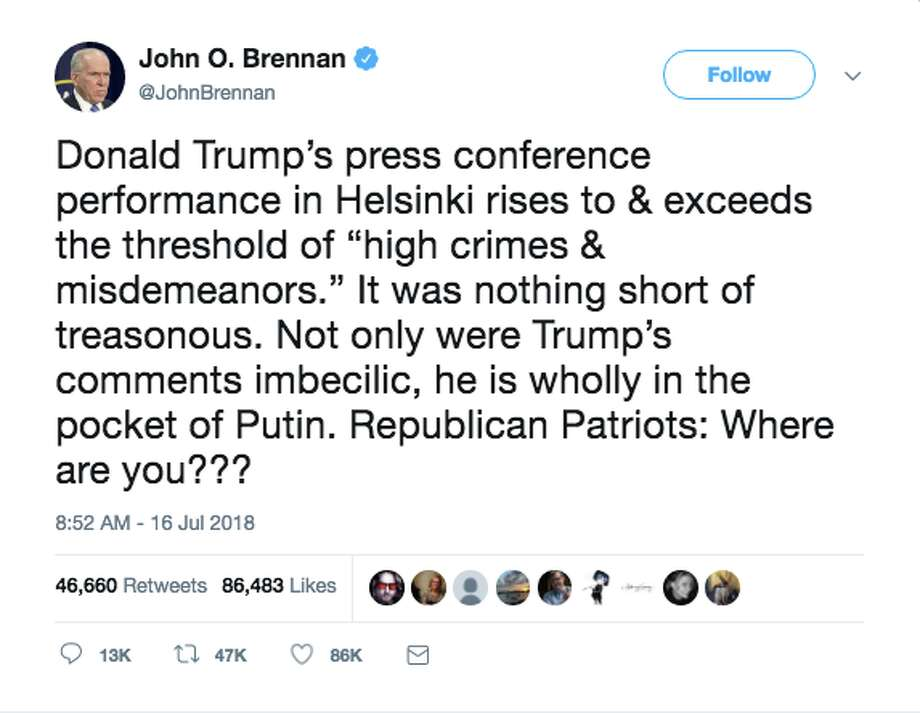 Politicians react to President Trump's press conference with Russian President Vladimir Putin. Photo: Screenshot Via Twitter