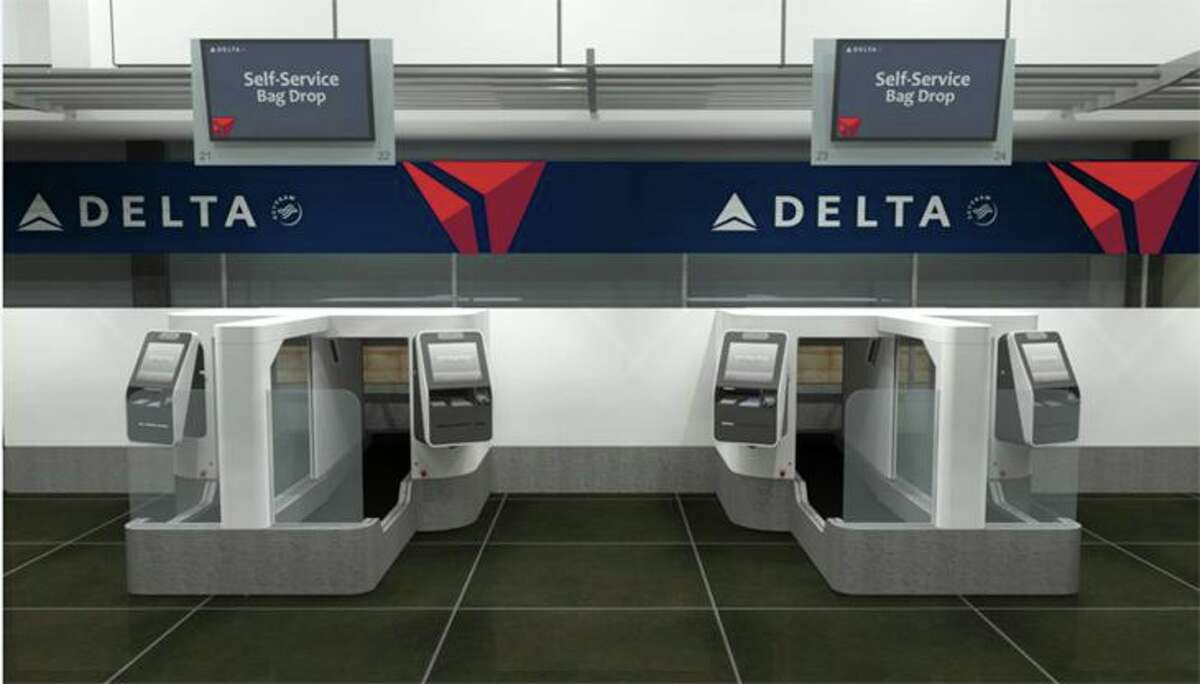Delta is testing facial recognition with new self-service bag drops at Minneapolis-St. Paul. (Image: Delta)