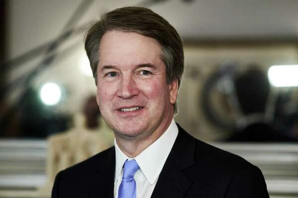Judge Brett Kavanaugh, President Donald Trump?'s Supreme Court nominee, on Capitol Hill in Washington, July 12, 2018. Kavanaugh and his supporters are keen to not let on that he is by legacy and experience a charter member of elite Washington: His family?'s government-centric social circle, his summer jobs on Capitol Hill, his White House service, his residence in one of the richest suburban enclaves in America. (T.J. Kirkpatrick/The New York Times)