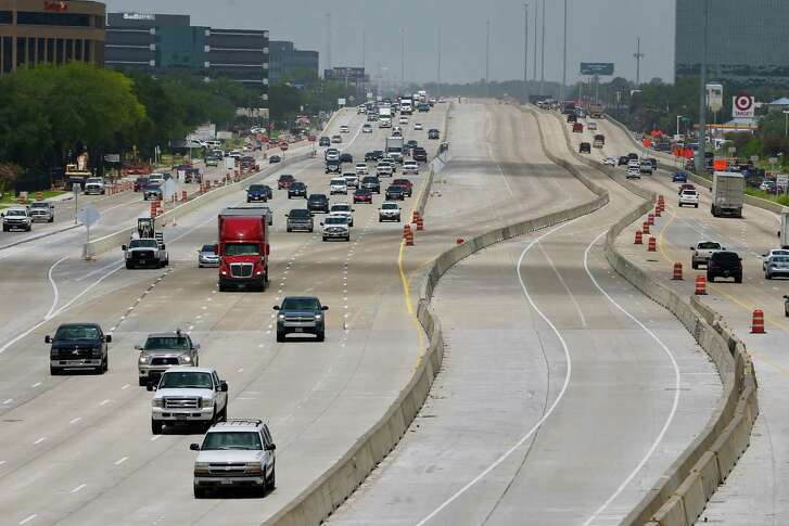 Traffic flows eastbound on 290 towards Pinemont on Monday, July 16, 2018, in Houston, TX.
