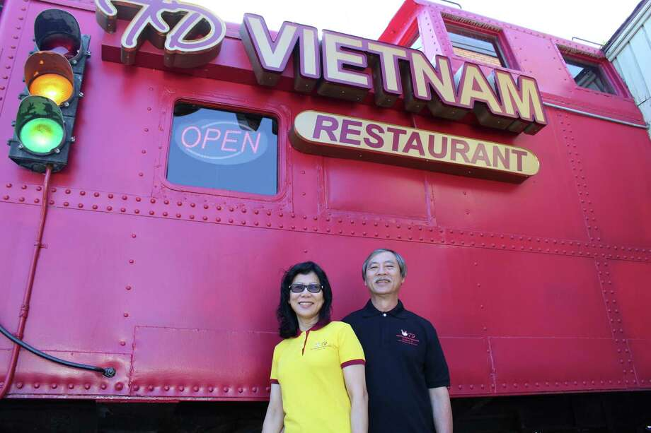 Dina and Thomas Nguyen, owners of TD Vietnam Palace in Stratford, have reopened their restaurant in a new location. Photo: Jordan Grice / Hearst Connecticut Media / Connecticut Post