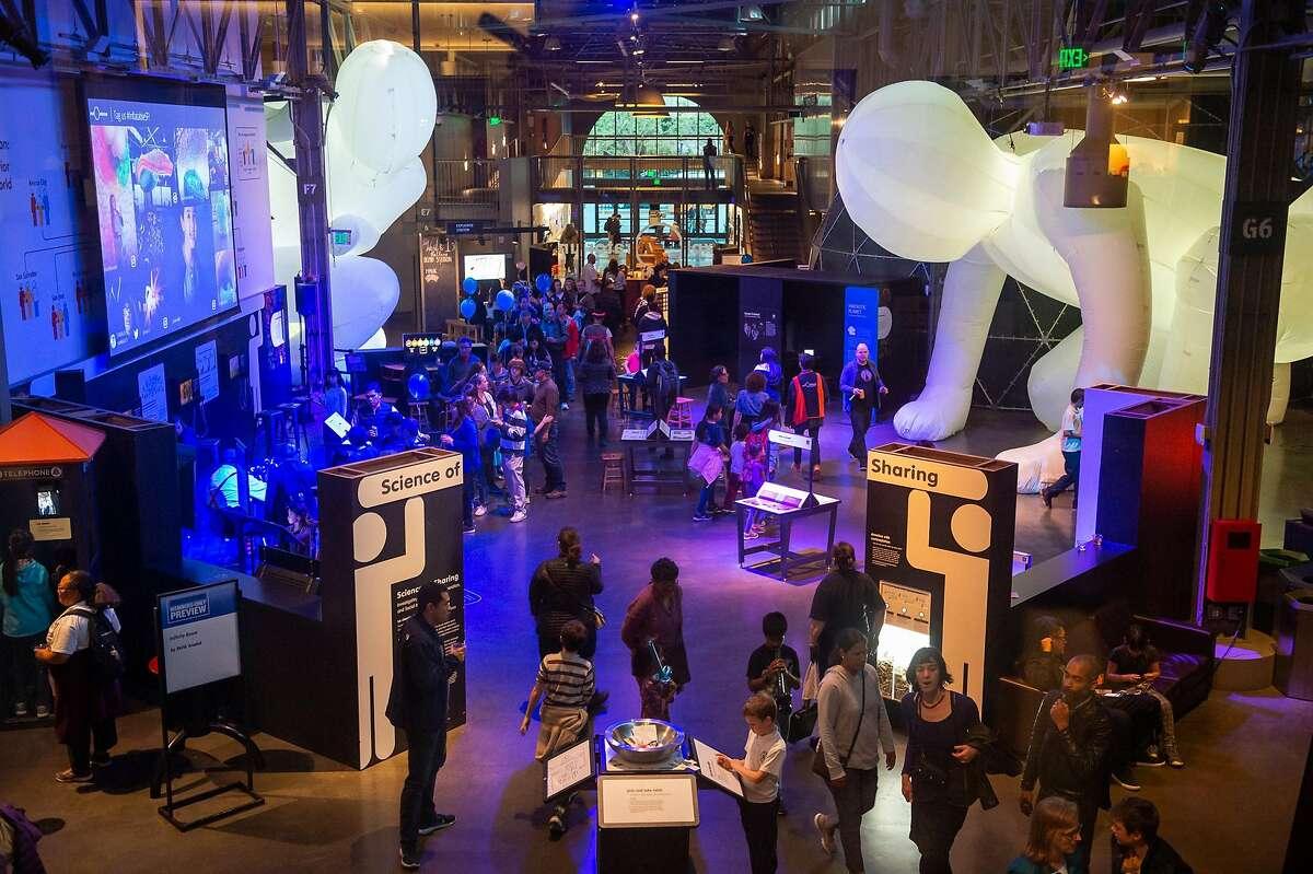 The new Exploratorium exhibit Inflatables has many interactive exhibits that combine science and art.