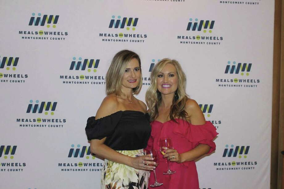"Pictured are Erin Dore and Heather Sanford co-chairs of the Cigars Under The Stars fundraiser themed ""Miami Nights,"" a recent fundraiser which benefited Meals on Wheels of Montgomery County."